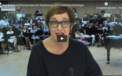 Catherine Bolzinger à Alsace20 pour présenter le Chœur philharmonique et la Signature avec la DRAC Grand Est